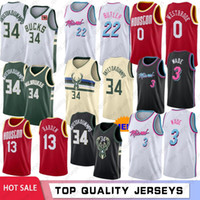NCAA Giannis 34 Antetokounmpo Colégio Men Basketball Jerseys Dwyane Wade 3 Jimmy 22 Butler Russell Westbrook 0 James Harden 13