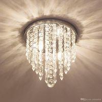 """Moderno mini Lampadario Di Cristallo di illuminazione 2 G9 luci Montaggio A Filo Luce di soffitto H10. 4 """"x W8. 66"""" Per Camera Da Letto Corridoio Bar"""