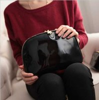 2019 European And American Hot Patent Leather Black Three Se...