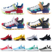 ef11392bf4d2f New Arrival. 2019 Nmd Human Race Running Shoes Pharrell Williams Mens Black  ...