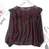 Women' s 100% Pure Silk Top Shirt Blouse Cute Ruffle Nec...