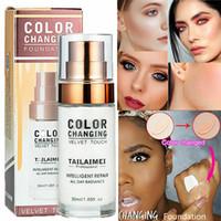 TLM Base de maquillage changeante Base de maquillage Nude Face Liquid Cover Correcteur Changement de ton de peau Anti-allergique Étanche 30 ml