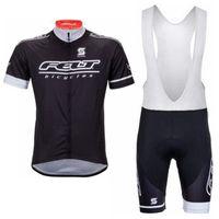 Fieltro Equipo Pro Ciclismo Mangas cortas Jersey Babero Shorts Conjuntos Ciclismo Ropa transpirable Quick Dry MTB Bike Sportwear Ropa de bicicleta 102317