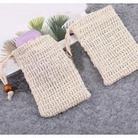 Natural Mesh Soap Saver Sisal Soap Saver Bag Pouch Holder Fo...