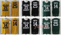 Erkekler Will Smith Forması Basketbol Bel Hava Akademisi'nin Prensi 25 Carlton Banks Yeşil Siyah Yeşil Stiched İsim ve Numara