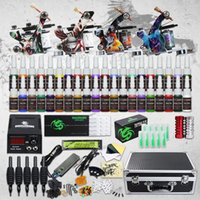 Complete Tattoo kit 4 Machine Guns 40 Color Inks Power Suppl...