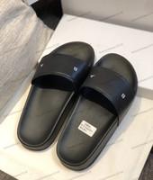 Top para mujer para hombre sandalias de los deslizadores Zapatos impresión Pase de moda de verano plano ancho de playa sandalias del deslizador del flip-flop