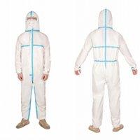Buque de la Desechable Aislamiento vestido de cuerpo completo de la bata protectora Vestimenta de Seguridad Ropa de la prueba del polvo de materiales peligrosos ropa de trabajo