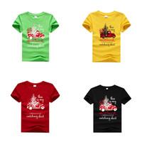 Bambini Ragazza di Natale T-shirt dei ragazzi del fumetto Lettera Top stampati vestiti dei capretti Ragazze casuali Tees tema Outfits Ragazzi Festive 06