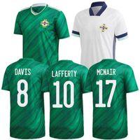 2020 أيرلندا الشمالية لكرة القدم جيرسي # 7 McGinn McNair Lafferty موحدة رجل # 5 إيفانز ماجنس ديفيس بيت كرة القدم