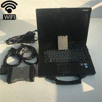 Kullanılmış dizüstü CF52 OBD2 Teşhis Çoklayıcı S-oftware V12.2019 otomobil tanı Tarayıcı aracıyla Tam set MB Yıldız C6 SD c6 X-entry DOIP