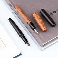 1pc Moonman natural hecho a mano de madera Pluma pluma de tinta EF / M / EF doblado plumilla oficina opcional Ninguna caja de escritorio útiles escolares