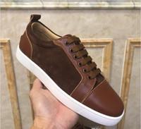 Prezzo di fabbrica! Sneakers inferiori rossi per gli uomini con i punti neri moda in pelle Scarpe Uomo sportivo, di svago delle donne calzature allenatore scarpe casual C4