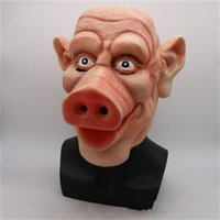 مضحك الإرهاب الخنزير قناع أقنعة عالية الجودة اللاتكس PigHead قبعة هالوين الحزب توريد الرجل والمرأة استخدام بالجملة 35cs H1