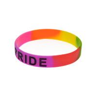 1PC Ink Filled Logo Pride Silicone Rubber Wristband no Gende...