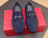 2019 Luxus New Ferra Herren Loafers Dress Echtes Leder Slip On Flats Wildleder Schuhe Größe 38-46