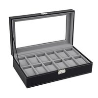 6 10 12 Slots Watch Box Rings Storage Organizer Jewelry Disp...