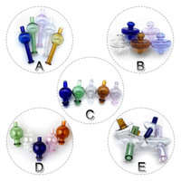 5 estilos de vidrio Carb Caps Direccional Bubble Ball Straw Cap UFO Cap Colorful Glass Carb Caps Para Cuarzo Banger Nails Agua Bongs Plataformas