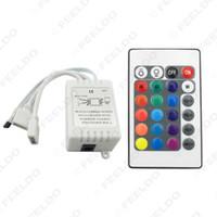 سيارة صغيرة IR LED تحكم الشريط الشريط اللاسلكي 24 مفاتيح البعيد عن 3528 5050 RGB LED قطاع الأنوار # 3903