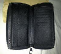 black plaid da.grap. محفظة Zippy محفظة N63095 أو محفظة القطن، أمر العميل.