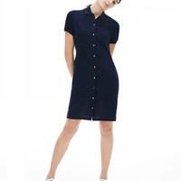 kadın polo timsah Pamuk Gömlek Elbise Günlük Polo Giyim A-Line Etek Taze Tatlı Giyim markası kadın dressses elbise
