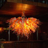 Modern Hand Blown Glass Chandelier Living Room Dining Room LED Glass Chandelier Lighting Table Top Art Decor Pendant Lamps