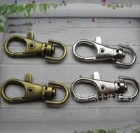 Серебро бронзированной Металл Поворотных омары застежка клип Ключ Крючки брелок Split Key Ring Выводы застежки Создание 30мм