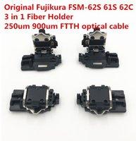 Original Fujikura FSM-62S-61S EFM EFM-62C-62C EFM + EFM-22S fibra Emendador fibra Detentor 250um 900um FTTH braçadeira de fibra um par