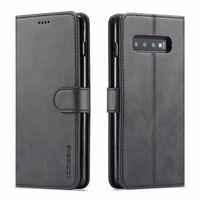 LC.IMEE Deri Flip Case Samsung Galaxy S10 S9 S8 Artı S10E 5G S20 Ultra S21 Not 8 9 10 20 Telefon Kapak Cüzdan Kart Yuvası
