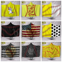 Couverture de football de baseball Sherpa Softball Couverture Sport Thème À Capuche Cape Football Serviette De Bain Couvertures De Swadding MMA1655 5pcs