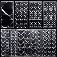 3D-Schokoriegel-Form-Polycarbonat-Tray Moldes Para Chocolate Candy Formular stranggusswerkzeuge Herz Kunststoff Bakeware für Backen Gebäck Werkzeuge