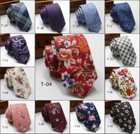 2020 Bräutigam Krawatten Mode Hochzeit Muster bedruckte Baumwolle Krawatte Jacquard Krawatten-Qualitäts-Bindung Get Together Schöne Männer Krawatten