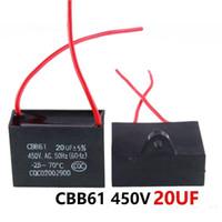 CBB61 450VAC 20UF ventilador condensador de arranque longitud de cable de 10 cm con la línea de