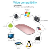 Rechargeable Wireless Bluetooth Mouse, Slim portable travel w...