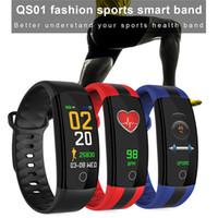 QS01 Smart-Armband Fitness Tracker Blutdruck-Puls-Monitor-Smart Watch Wasserdicht Passometer Smart-Wrsitwatch für iPhone und Android