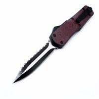 Mict Troodotfn grande A07 9inch Red Dot dupla ação Hunting opcional dobrar lâmina fixa Pocket Knife faca da sobrevivência Xmas presente ADRU