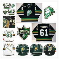 مخصص CHL London Knights Mitch Marner Jersey 88 Patrick Kane 61 Tavares Rick Nash Stitched Black Green White Hockey Jerseys