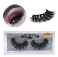 Venta al por mayor Fastship 11styles 1 par / lote Real 3D Full Strip False Eyelash con caja Gran calidad DHL