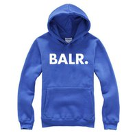 Hoodies de marque Stylish Hiphop Men BALR. Terry Hoodies Mâle Automne Printemps Mode Slim Fit Lettres Sweats À Capuche