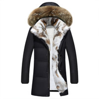 2018 утка вниз куртка мужчины зима толстый меховой воротник плюс размер 5xl унисекс зимнее пальто прокладки с капюшоном пальто ветровки Hiver Homme