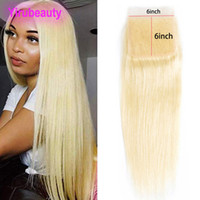 Brazilian Virgin Hair Blonde Six By Six Lace Closure Middle ...