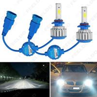 Venda Por Atacado brilhante h8 / h9 / h11 6000k 48w 5200lm carro LED faróis chips de cob lâmpadas de nevoeiro do carro lâmpadas xenon luz com ventilador # 1429