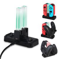 4 in 1 Şarj Dock İstasyonu Nintendo Anahtarı için LED Şarj Cradle 4 Joy-Con Kontrol Anahtarı NS Pro Gamepad Karşılıklar Paketleri ile Stand
