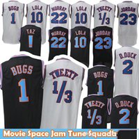 Movie 23 Michael 1 Bugs Bunny Jersey! Taz 1/3 Tweety Space Jam Tune Squad 22 Bill Murray 10 Lola 2 D.DUCK Pallacanestro Maglie Uomo
