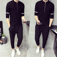 Cool2019 Wear Summer Summer In Sleeve T Pity 9 Part Pants 2 Paper Set Tiempo libre Traje popular