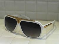 горячие мужчины бренд дизайнер солнцезащитные очки миллионер доказательства солнцезащитные очки ретро винтаж блестящее золото летний стиль лазерный логотип Z0350W высокое качество