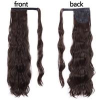 緩い巻き毛ストラップオン型巾着ポニーテール編組ヒップホップコイルトウモロコシ媒体の髪を受けている人間の髪を染めることができます140g送料無料