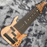 Personalizzato 17 corde basse della chitarra elettrica Tastiera in palissandro corpo di mogano del collo il marchio su misura sulla paletta è OK spedizione gratuita