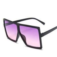 Avrupa Ve Amerikalı Trend Büyük Çerçeve Güneş Gözlüğü Toptan Kadın Kare Çok renkli Kişiselleştirilmiş Güneş Satış Dış Ticaret Gözlük