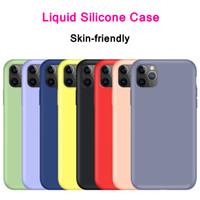 Flüssiges Silikon weiche TPU-Gummi-Süßigkeiten Farbe stoßfester Fallabdeckung für iPhone 11 Pro max XR xs max 6 7 8 plus